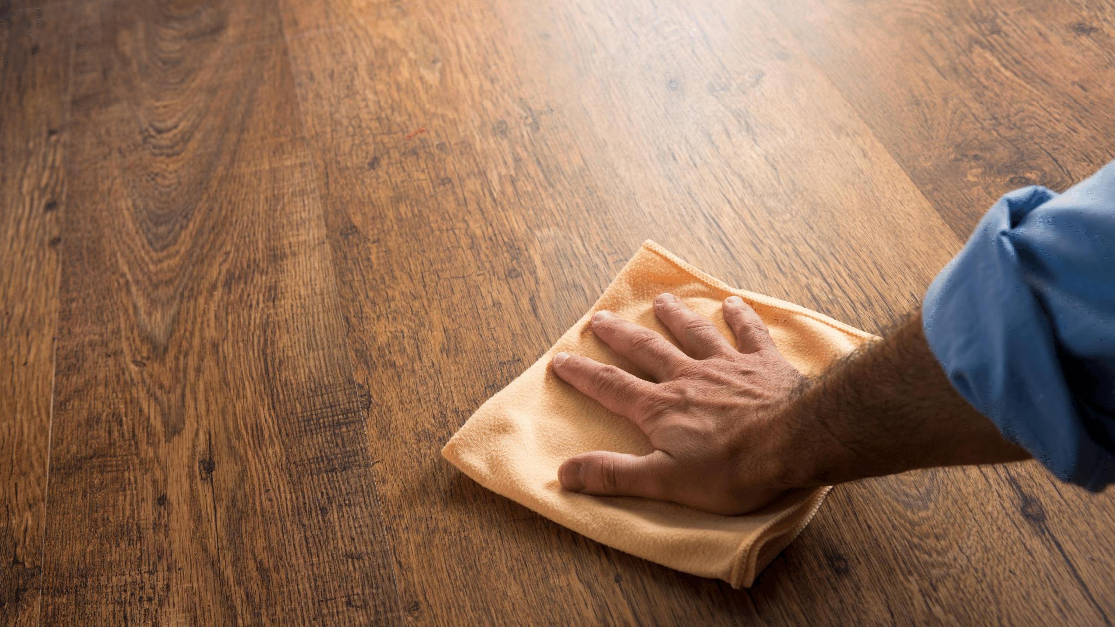 cleaning wood flooring